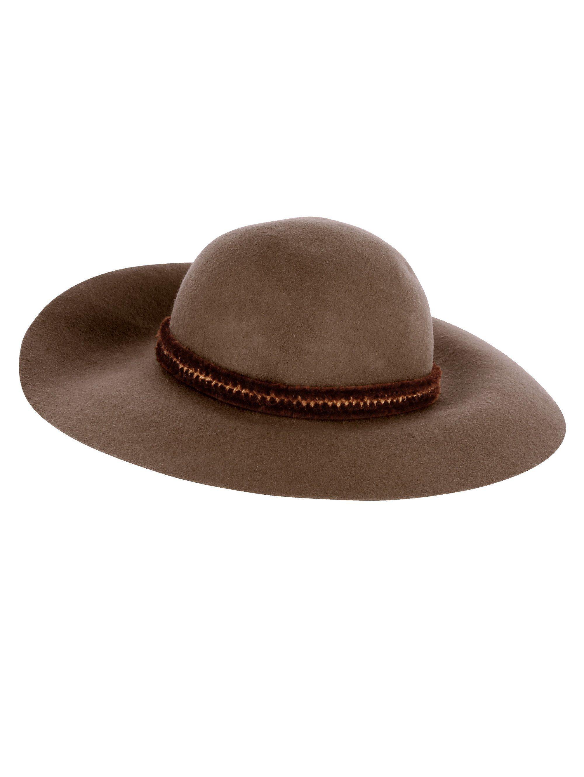 Mona Hut aus reiner Wolle | Accessoires > Hüte > Schlapphüte | Braun | MONA
