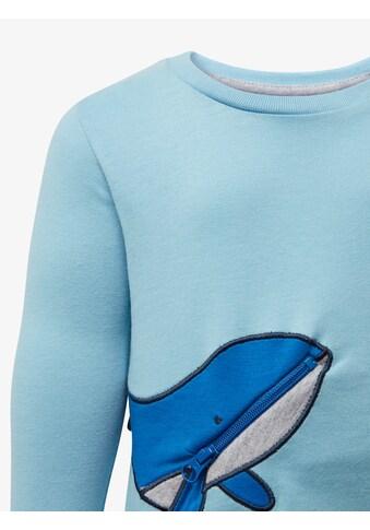 TOM TAILOR Sweater »Langarmshirt mit Wal - Tasche« kaufen