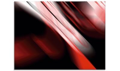Artland Glasbild »Design Rot«, Gegenstandslos, (1 St.) kaufen