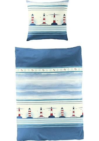BIERBAUM Bettwäsche »Leuchtturm«, maritim kaufen