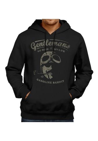 GASOLINE BANDIT® Kapuzenpullover mit Vintage - Print »Gentlemans« kaufen