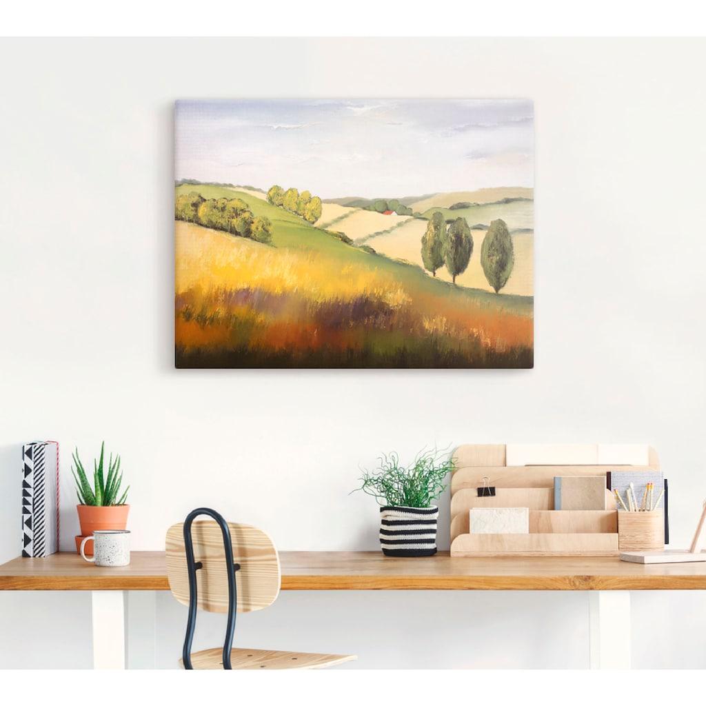Artland Wandbild »Cotswold II«, Felder, (1 St.), in vielen Größen & Produktarten -Leinwandbild, Poster, Wandaufkleber / Wandtattoo auch für Badezimmer geeignet