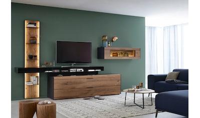 SCHÖNER WOHNEN-Kollektion Wohnwand »YORIS V20«, 4 tlg. Kombination, Regal links kaufen