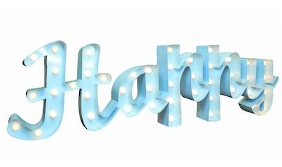 MARQUEE LIGHTS LED Dekolicht »Happy Schriftzug«, 1 St., Warmweiß, Wandlampe,... kaufen