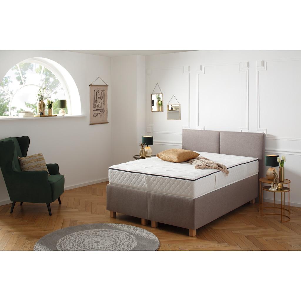 DELAVITA Taschenfederkernmatratze »Fischa«, 27 cm cm hoch, 308 Federn, (1 St.), Mit spezieller Sitzkante für ein leichtes Aufstehen aus dem Bett