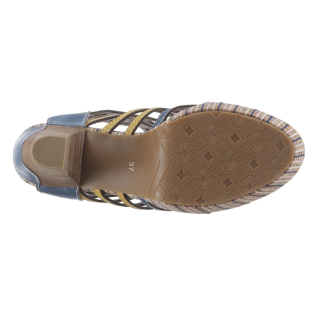 LAURA VITA Sandalette »Ficneo«, mit aufwendiger Blattverzierung