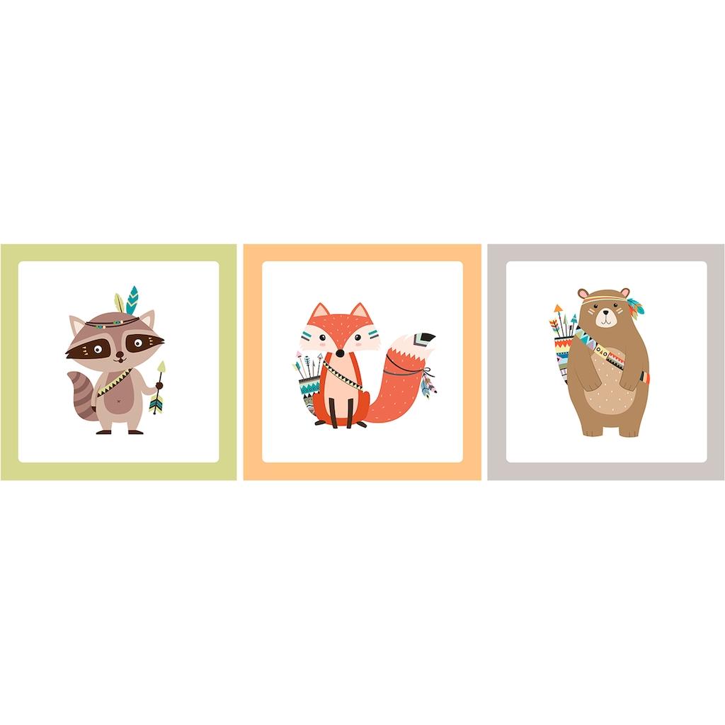 Art for the home Mehrteilige Bilder »Adventures«, (Set, 3 St.)