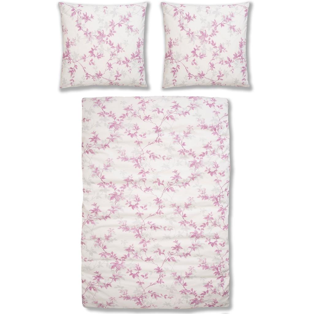 BIERBAUM Bettwäsche »Hannah«, mit schönen Blumen