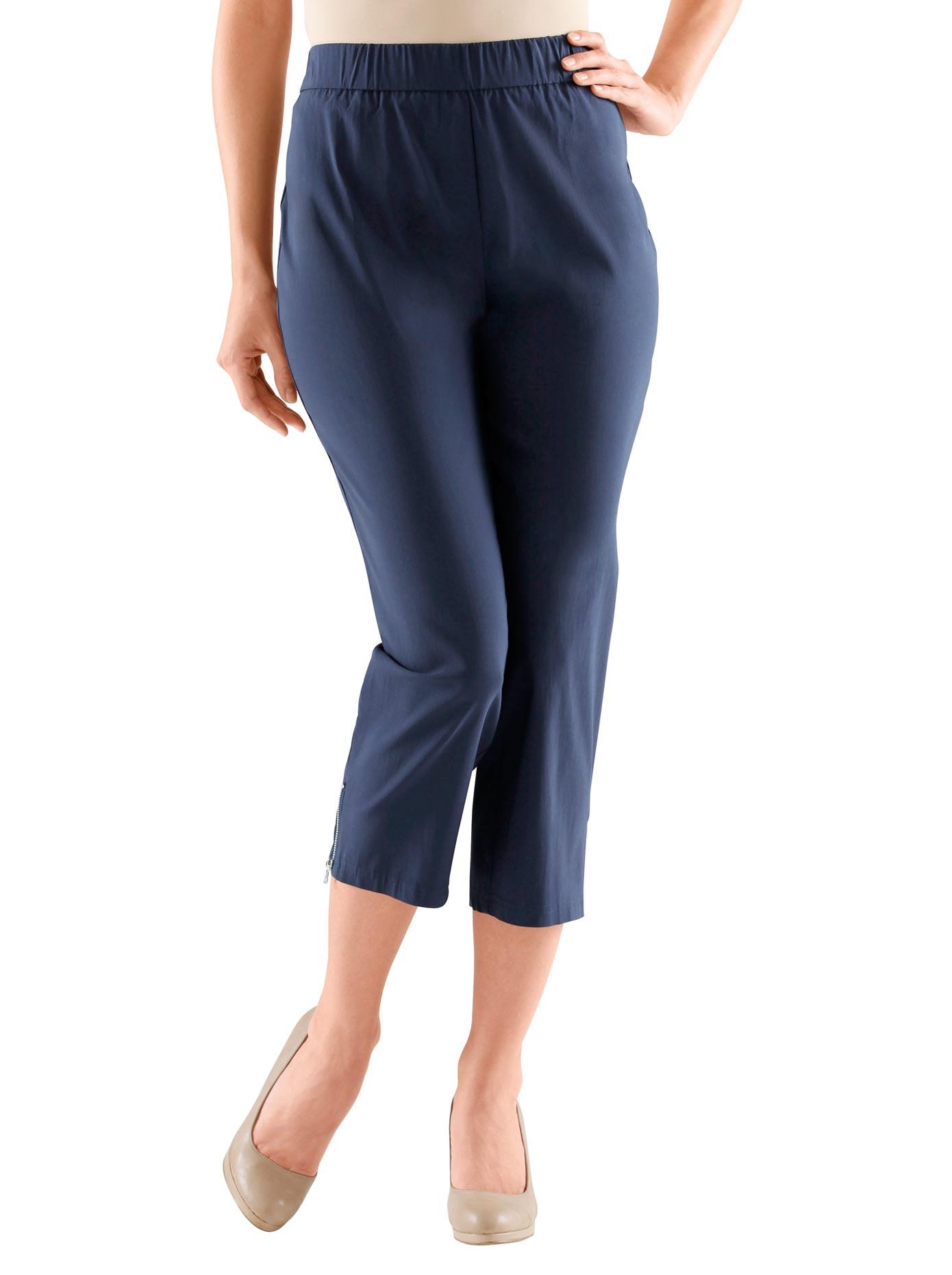 Adelina 7/8-Hose in aktueller Bengalin Qualität | Bekleidung > Hosen > 7/8-Hosen | Blau | Adelina