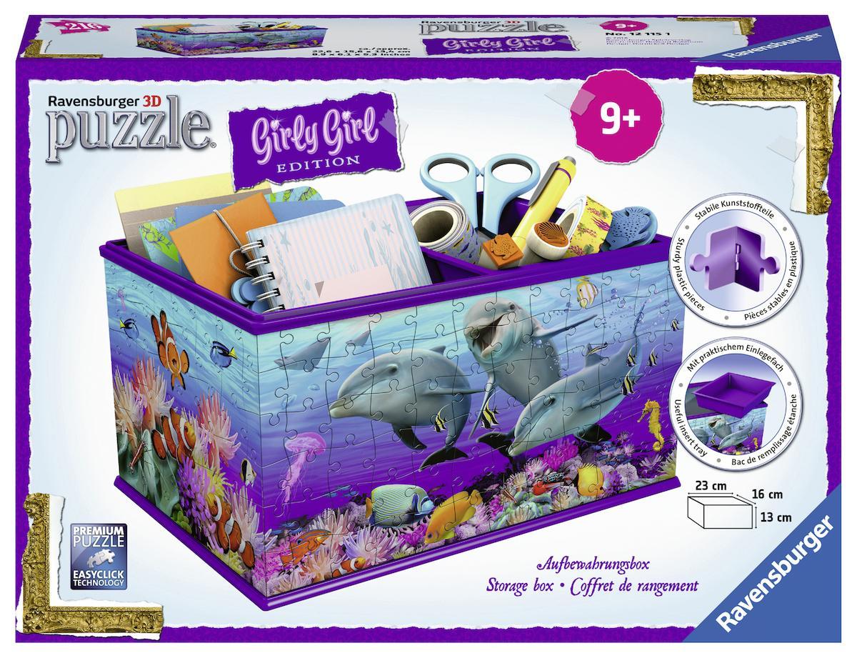 """Ravensburger 3D-Puzzle """"Girly Girl Aufbewahrungsbox Unterwasserwelt"""" Kindermode/Spielzeug/Gesellschaftsspiele/Puzzle/3D Puzzle"""