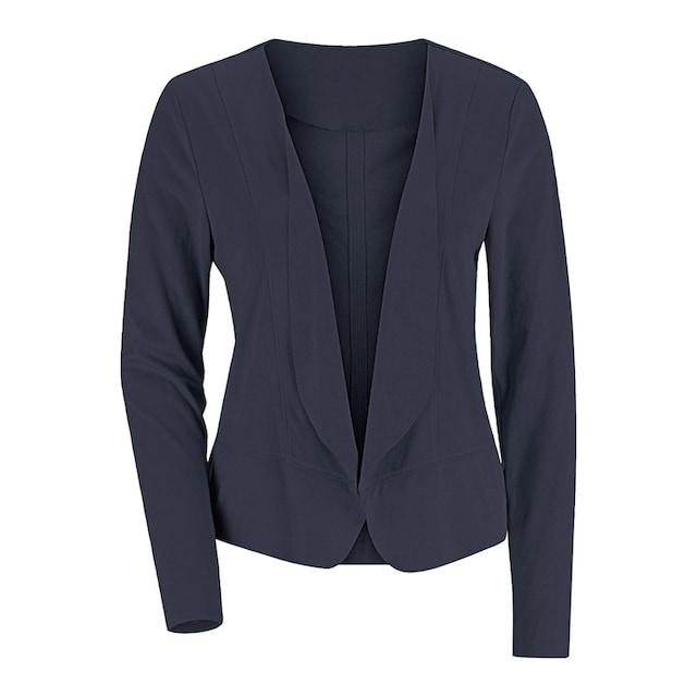 Alessa W. Lederimitat-Blazer in modisch kurzer Form