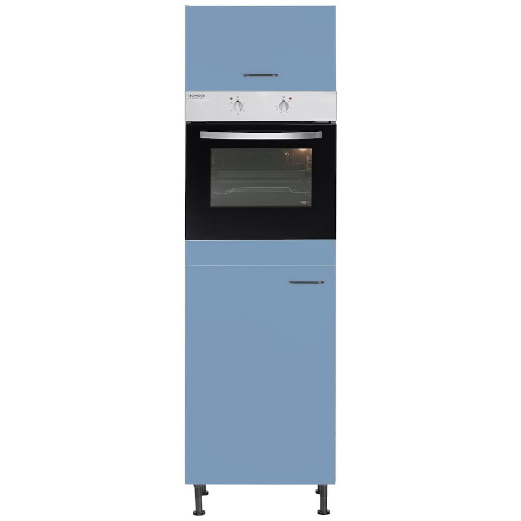 OPTIFIT Backofen/Kühlumbauschrank »Elga«, mit Soft-Close-Funktion, höhenverstellbaren Füßen und Metallgriffen, Breite 60 cm