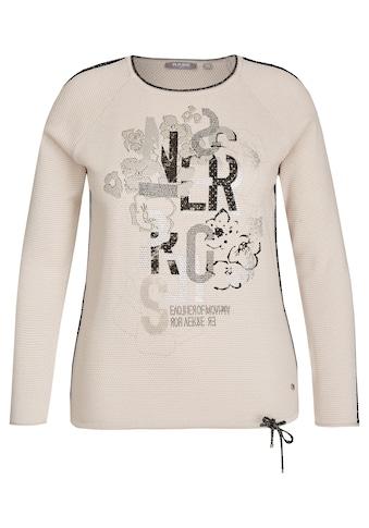 Rabe Pullover mit Lettern und Blumenprint kaufen