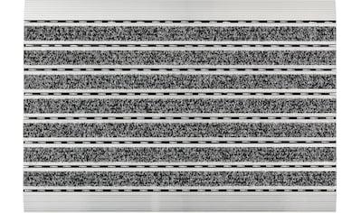 ASTRA Fußmatte »Rips«, rechteckig, 10 mm Höhe, Fussabstreifer, Fussabtreter, Schmutzfangläufer, Schmutzfangmatte, Schmutzfangteppich, Schmutzmatte, Türmatte, Türvorleger, mit Aluminiumrahmen kaufen