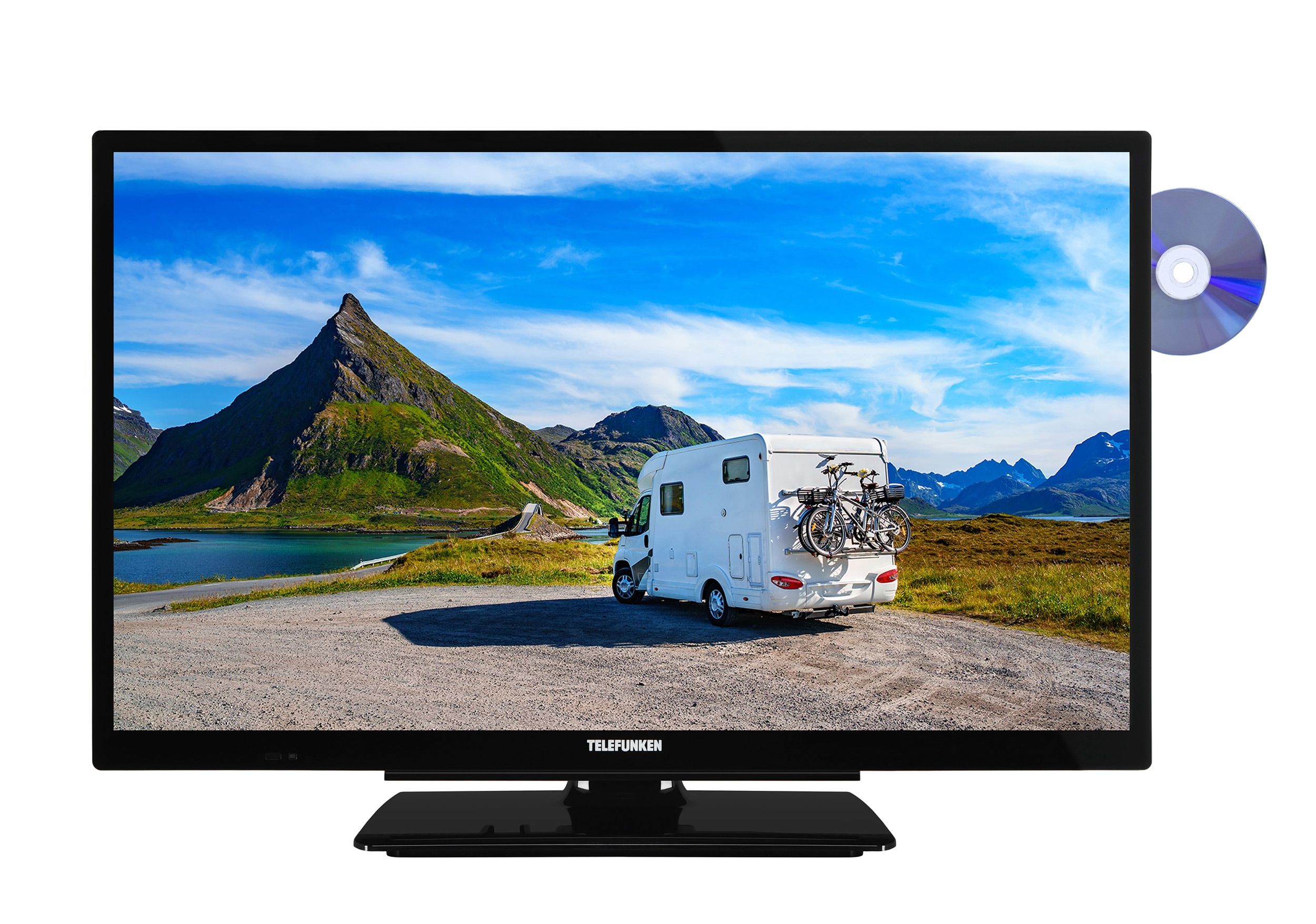 telefunken led fernseher 24 zoll hd ready triple tuner. Black Bedroom Furniture Sets. Home Design Ideas
