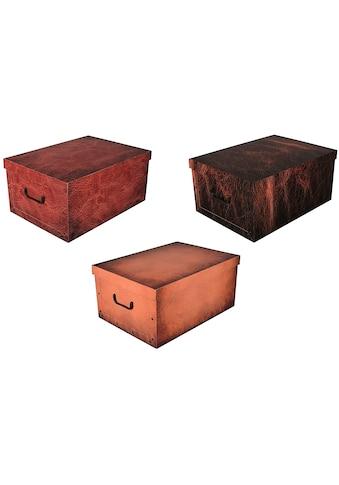 Kreher Aufbewahrungsbox »Leather«, (Set, 3 St.) kaufen