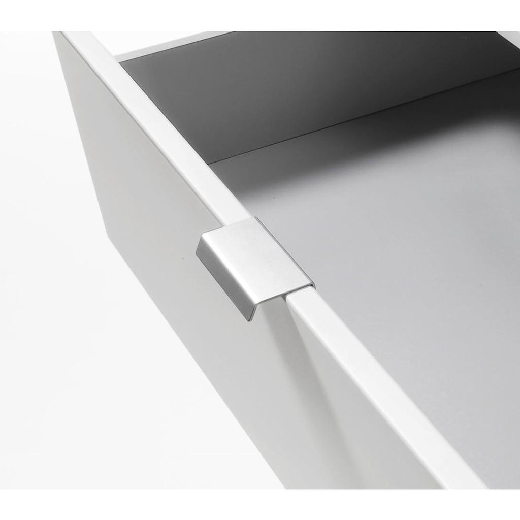 Express Solutions Schubkastenkommode, Breite 80 cm, mit Glas