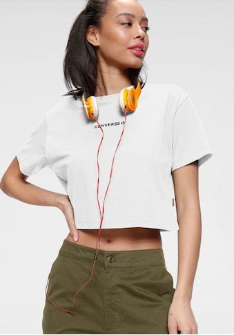 Converse T - Shirt »CENTER FRONT EMBROIDERED WORDMARK CROP TEE« kaufen