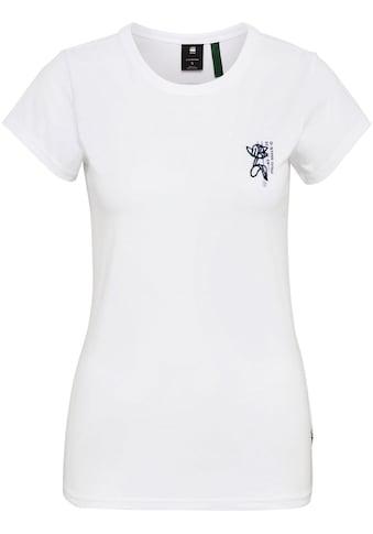 G-Star RAW T-Shirt »Slim Fit Tulip Print T-Shirt«, mit Tulpengrafik auf der Brust kaufen