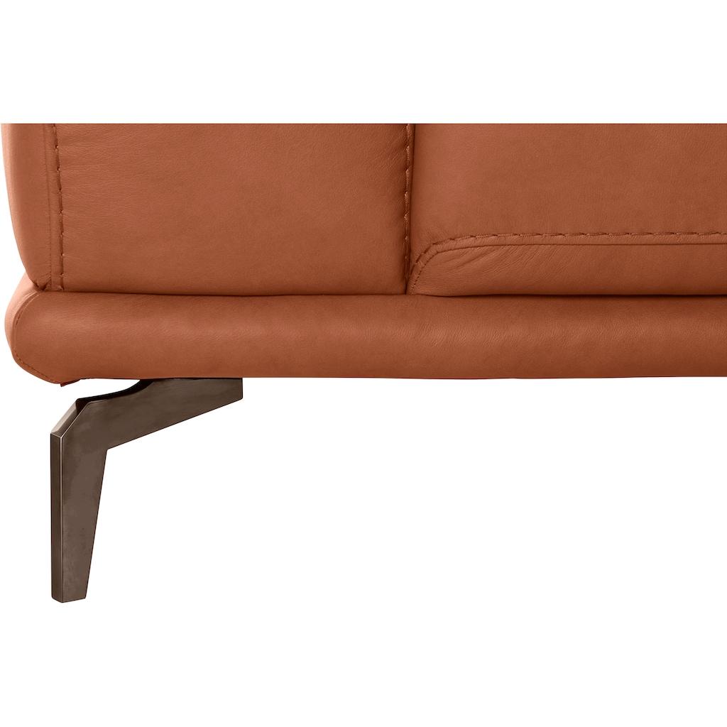 W.SCHILLIG 2,5-Sitzer »montanaa«, mit Metallfüßen in Bronze pulverbeschichtet, Breite 212 cm