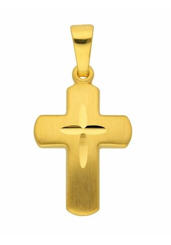 Adelia´s Kettenanhänger »585 Gold Kreuz Anhänger«, Goldschmuck für Damen & Herren kaufen