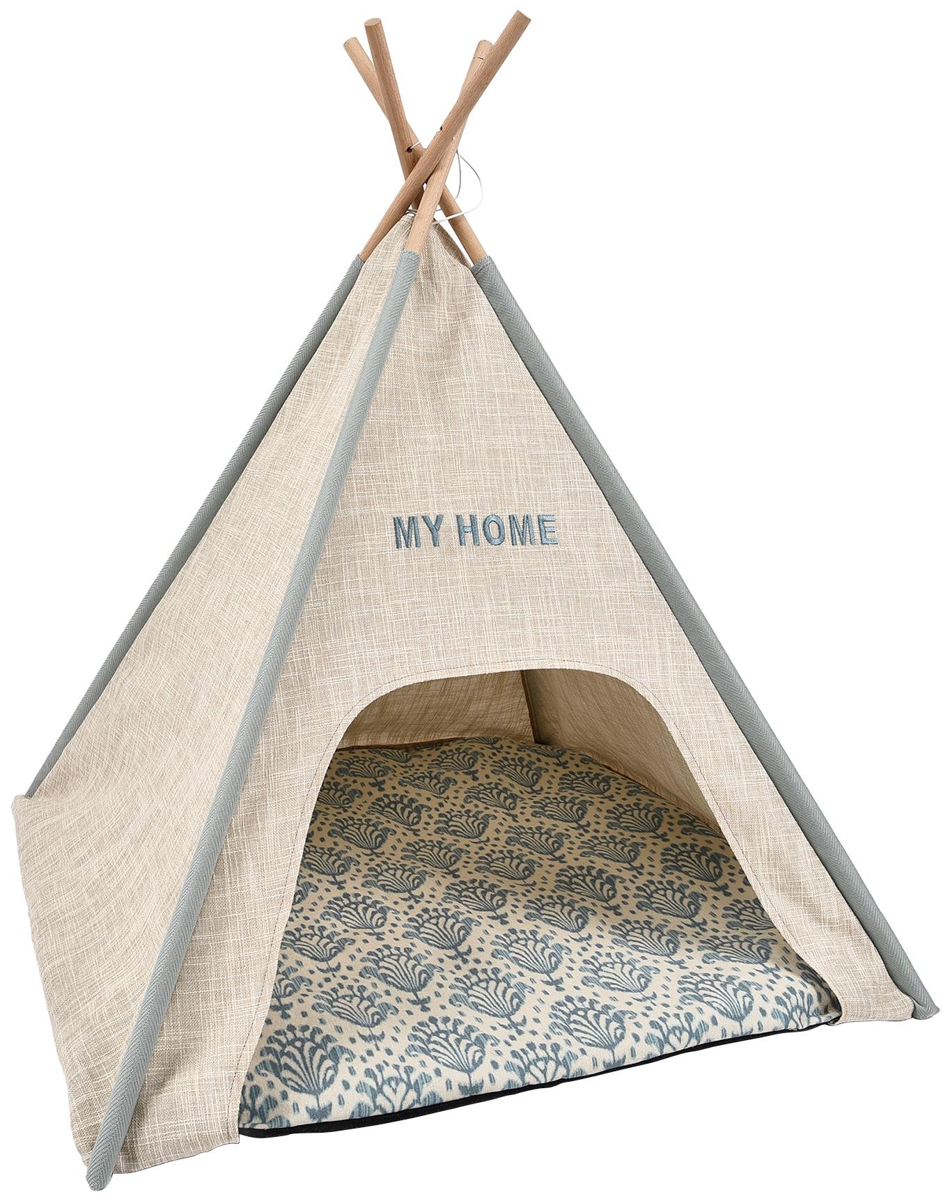 HEIM Katzenzelt Tipi-Zelt My Home, Katzenhöhle, BxLxH: 68x68x80 cm beige Katzenkörbe -kissen Katze Tierbedarf
