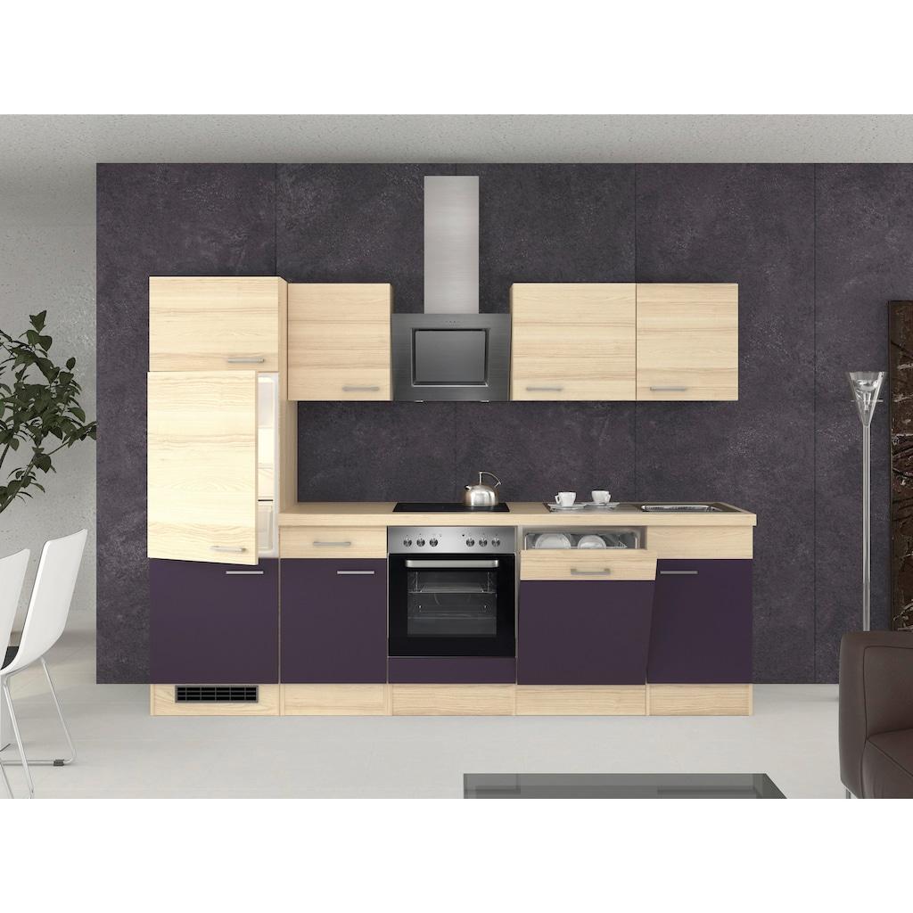 Flex-Well Küchenzeile, mit E-Geräten, Breite 280 cm