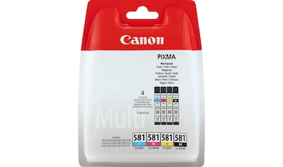 Canon Tintenpatrone »CLI-581 BK/C/M/Y Multipack«, (Packung) kaufen