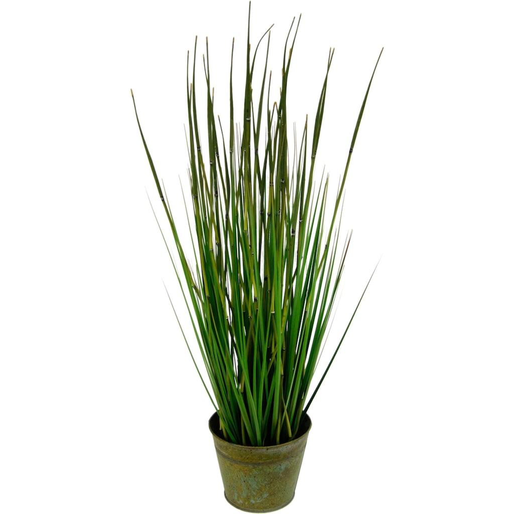 I.GE.A. Kunstpflanze »Bambusgras im Metalltopf«