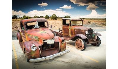 PAPERMOON Fototapete »Abandoned Old Cars«, Vlies, in verschiedenen Größen kaufen