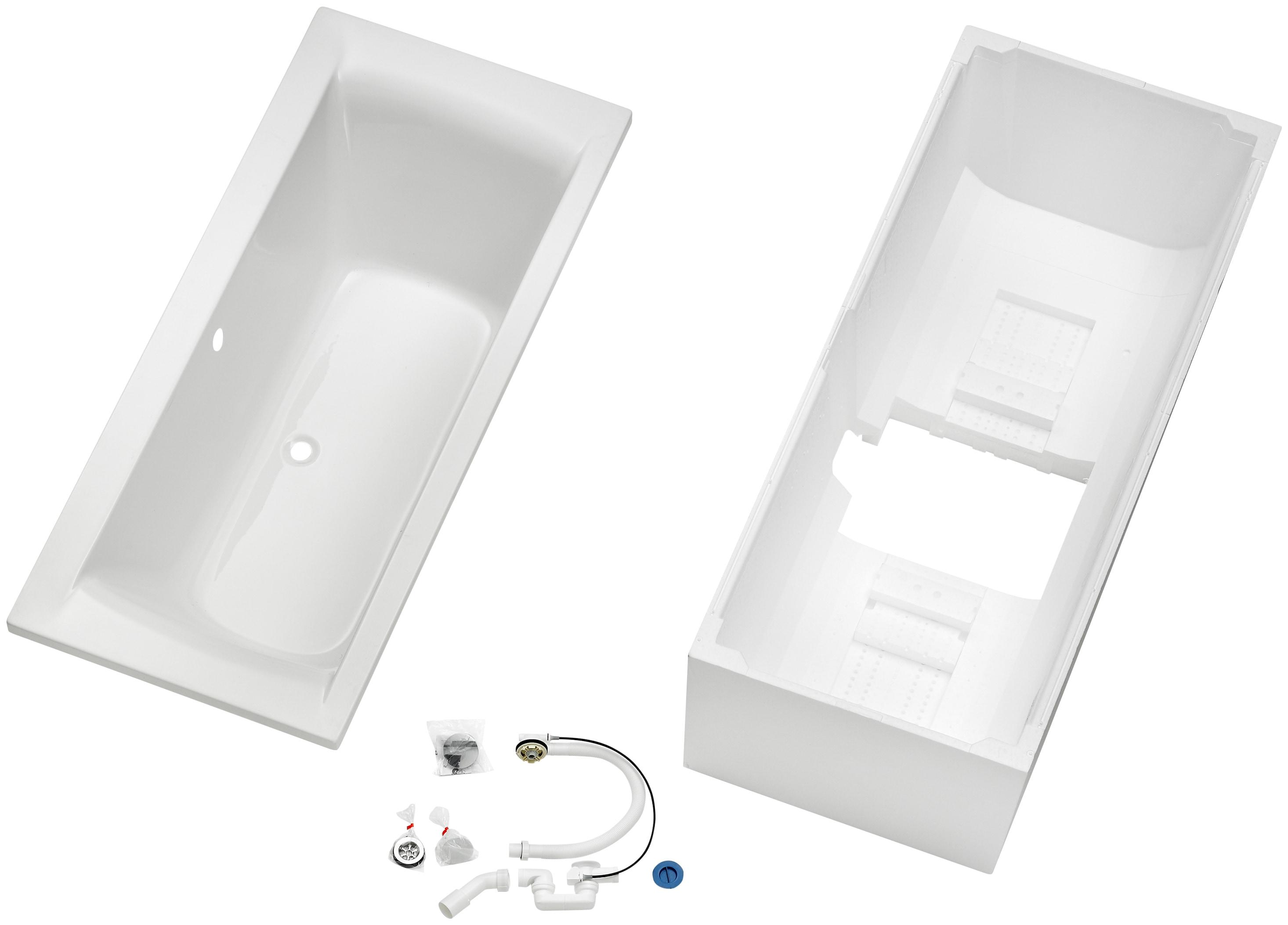 OTTOFOND Badewanne Set Duobadewanne, 1700/800 mm, Duobadewanne weiß Badewannen Whirlpools Bad Sanitär