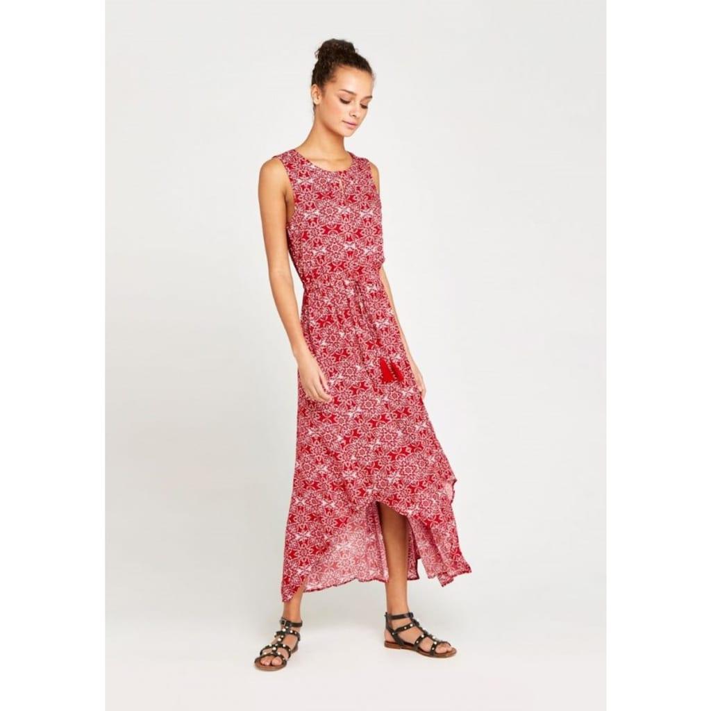 Apricot Maxikleid »Mosaic Print Tassle Tie Dress«, mit Rückenausschnitt