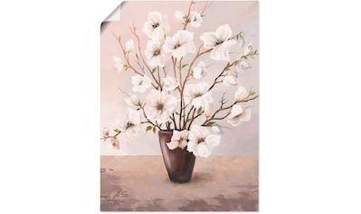 Artland Wandbild »Magnolien«, Blumen, (1 St.), in vielen Größen & Produktarten - Alubild / Outdoorbild für den Außenbereich, Leinwandbild, Poster, Wandaufkleber / Wandtattoo auch für Badezimmer geeignet kaufen