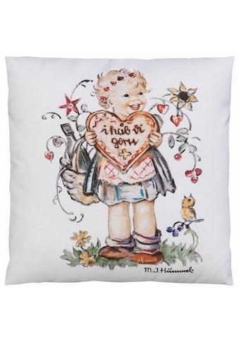 M.I. Hummel Kissenbezug »I hab di gern - Mädchen«, (1 St.), mit Hummel Figur kaufen