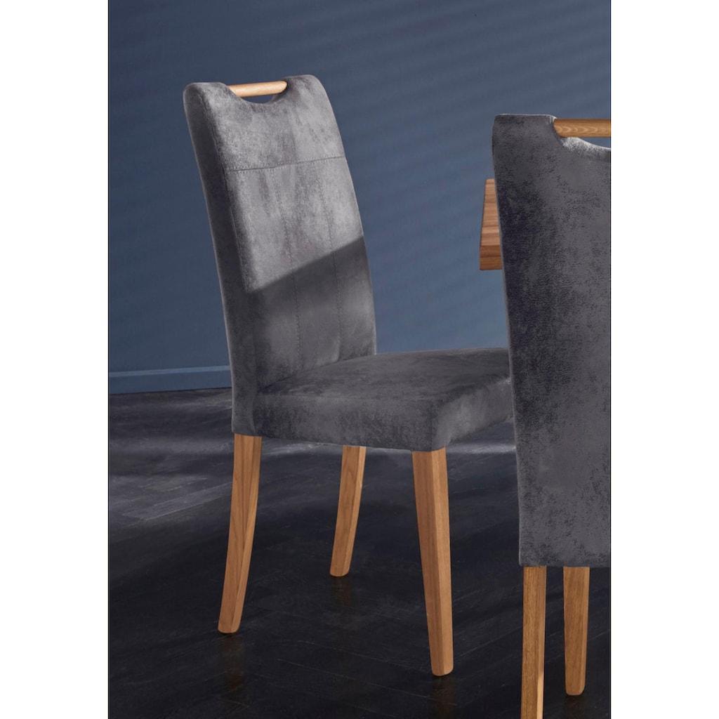 Stuhl »Roberta«, Bezug aus strapazierfähiger Microfaser (2 Stück)