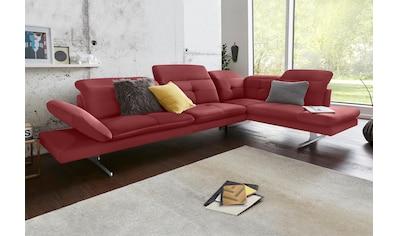 exxpo - sofa fashion Ecksofa, inkl. Kopf- bzw. Rückenverstellung und Armteilverstellung kaufen