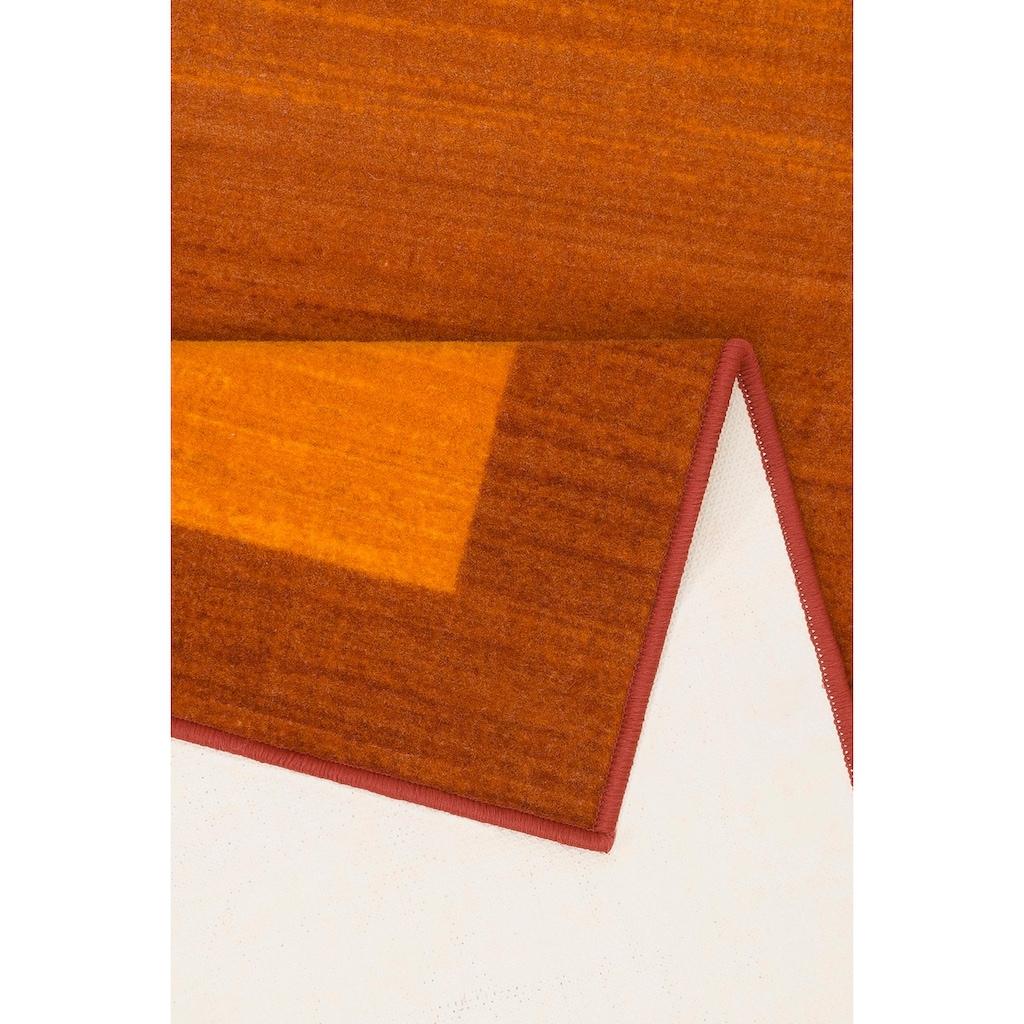 THEKO Läufer »Gabbeh Ideal«, rechteckig, 6 mm Höhe, Teppich-Läufer, mit Bordüre