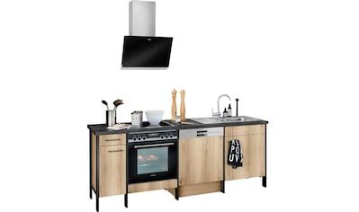 OPTIFIT Küchenzeile »Tokio«, ohne E-Geräte, Breite 224 cm, mit Stahlgestell, mit... kaufen