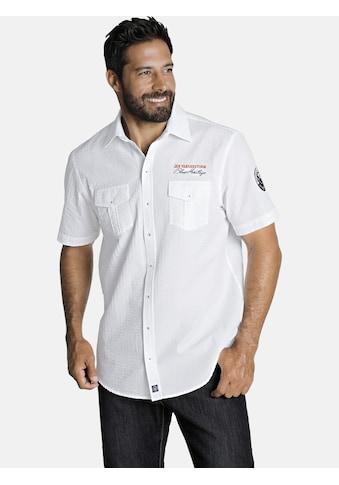Jan Vanderstorm Kurzarmhemd »ELNOR«, aus reiner Baumwolle kaufen