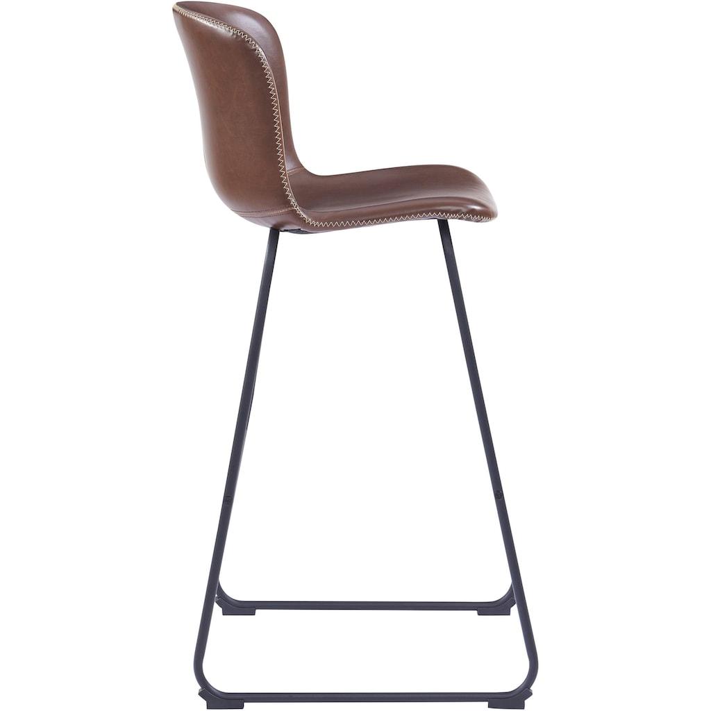 andas Barhocker »Sigwald«, mit schwarzen Kufen Metallbeinen, Sitzhöhe 75 cm