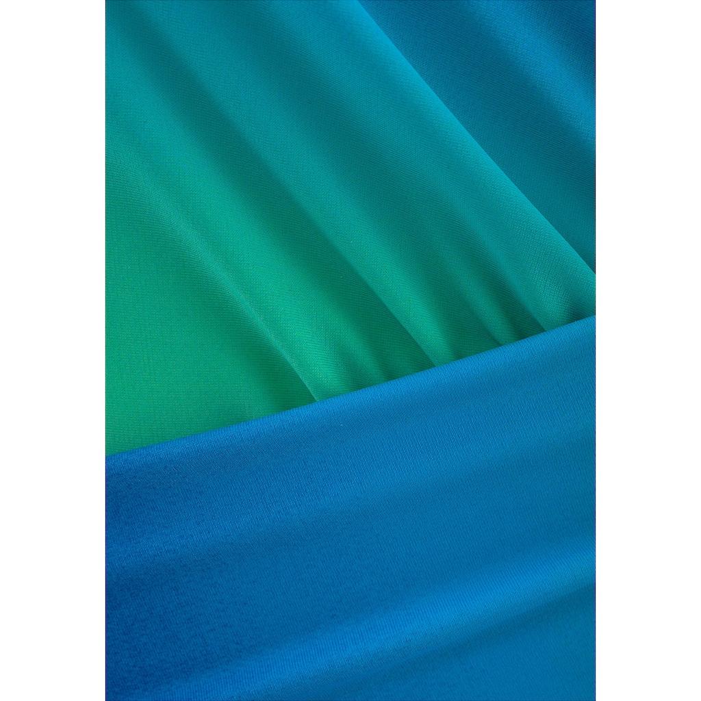 LASCANA Badeanzug, mit Farbverlauf in Wickeloptik