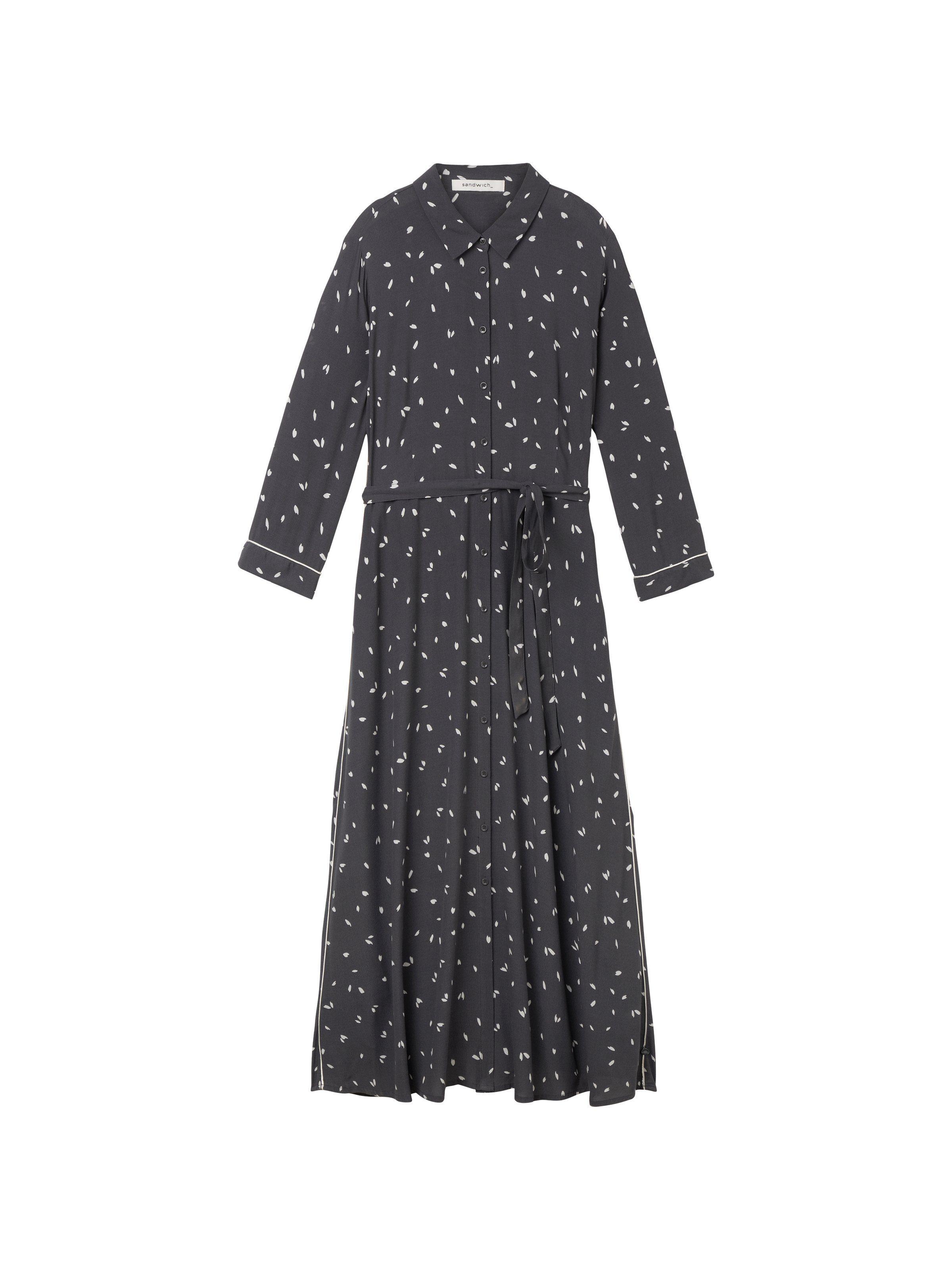 Sandwich Midi-Kleid mit Blattmuster