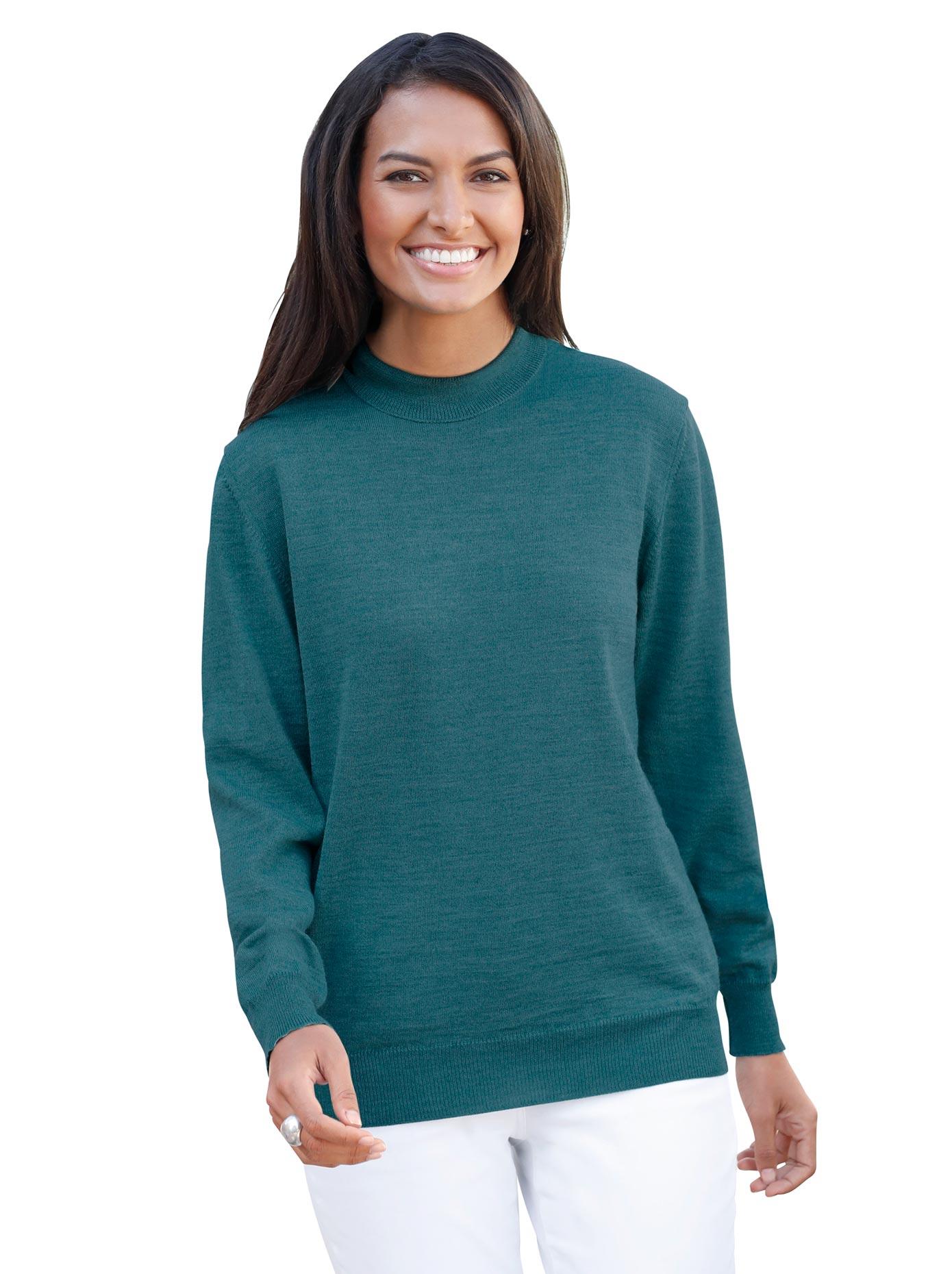 Casual Looks Stehkragen-Pullover aus hochwertiger Merino-Wolle | Bekleidung > Pullover > Stehkragenpullover | Casual Looks