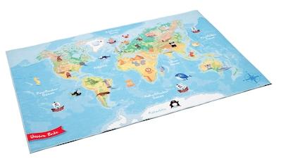 Kinderteppich, »Weltkarte«, Böing Carpet, rechteckig, Höhe 4 mm, gedruckt kaufen