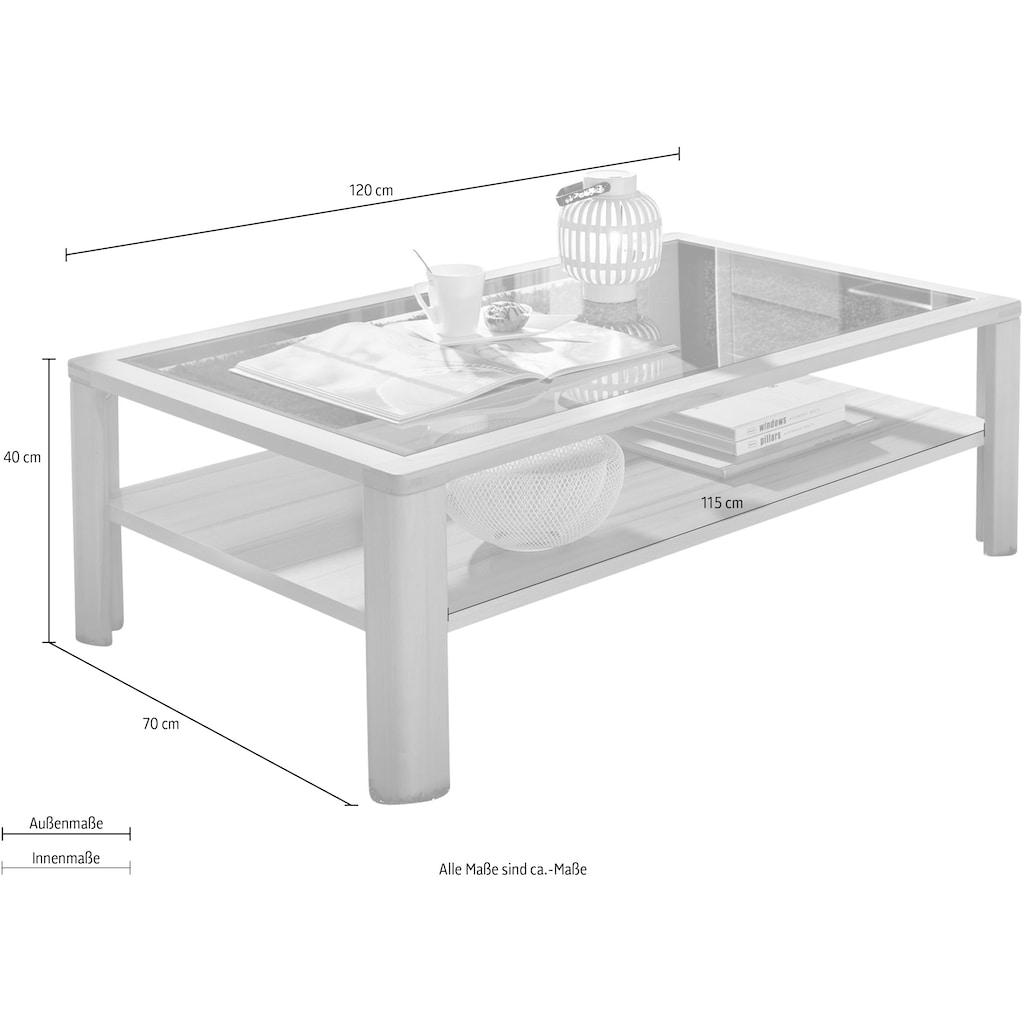Innostyle Couchtisch »Nature Plus«, (Packung), Couchtisch mit Sicherheits-Glasplatte