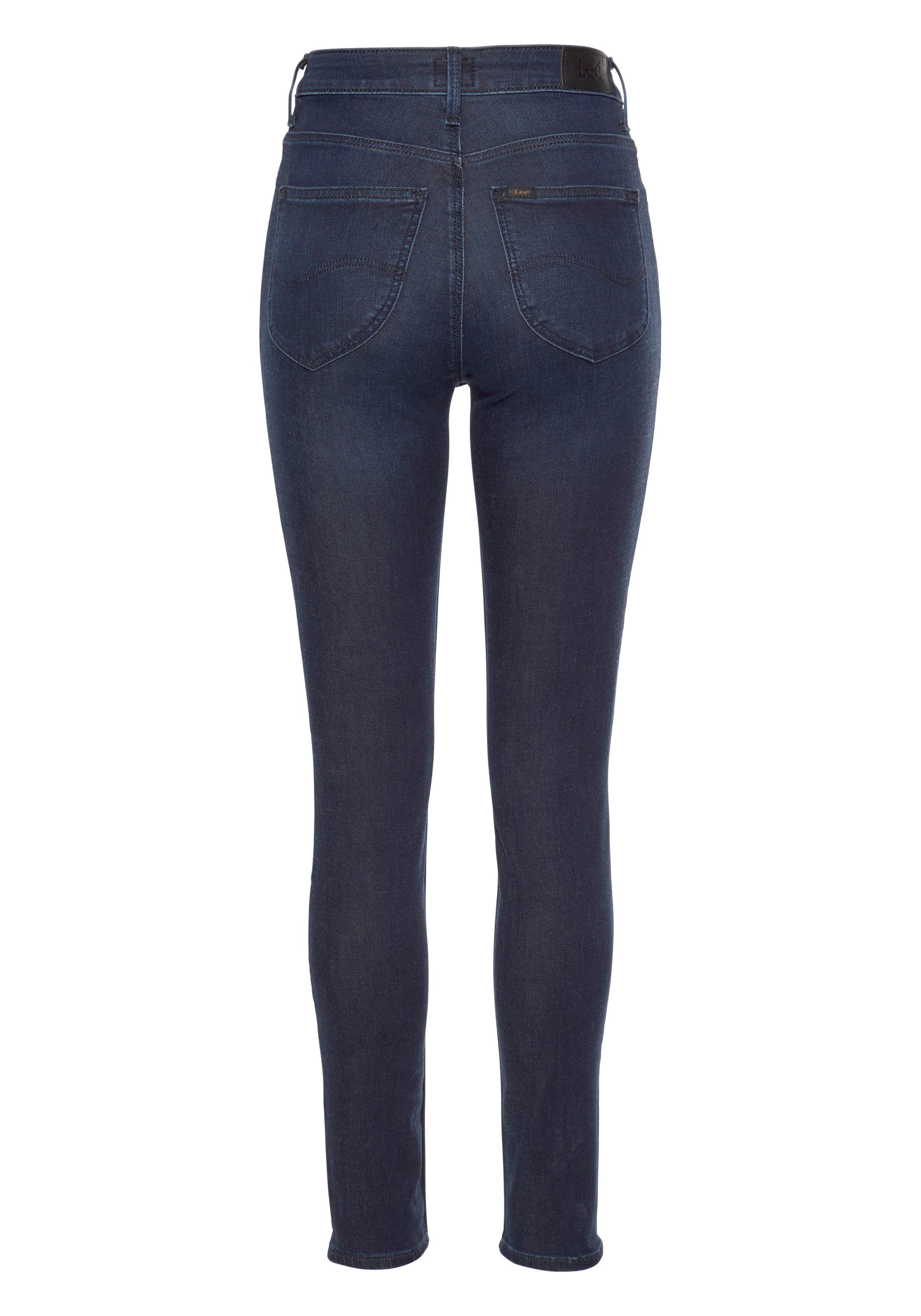 Lee High-waist-Jeans Scarlett | Bekleidung > Jeans > High Waist Jeans | Blau | Lee