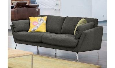 W.SCHILLIG 2-Sitzer »softy«, mit dekorativer Heftung im Sitz, Füße Chrom glänzend kaufen