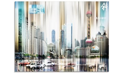 Artland Glasbild »China Straßen Abstrakte Collage«, China, (1 St.) kaufen