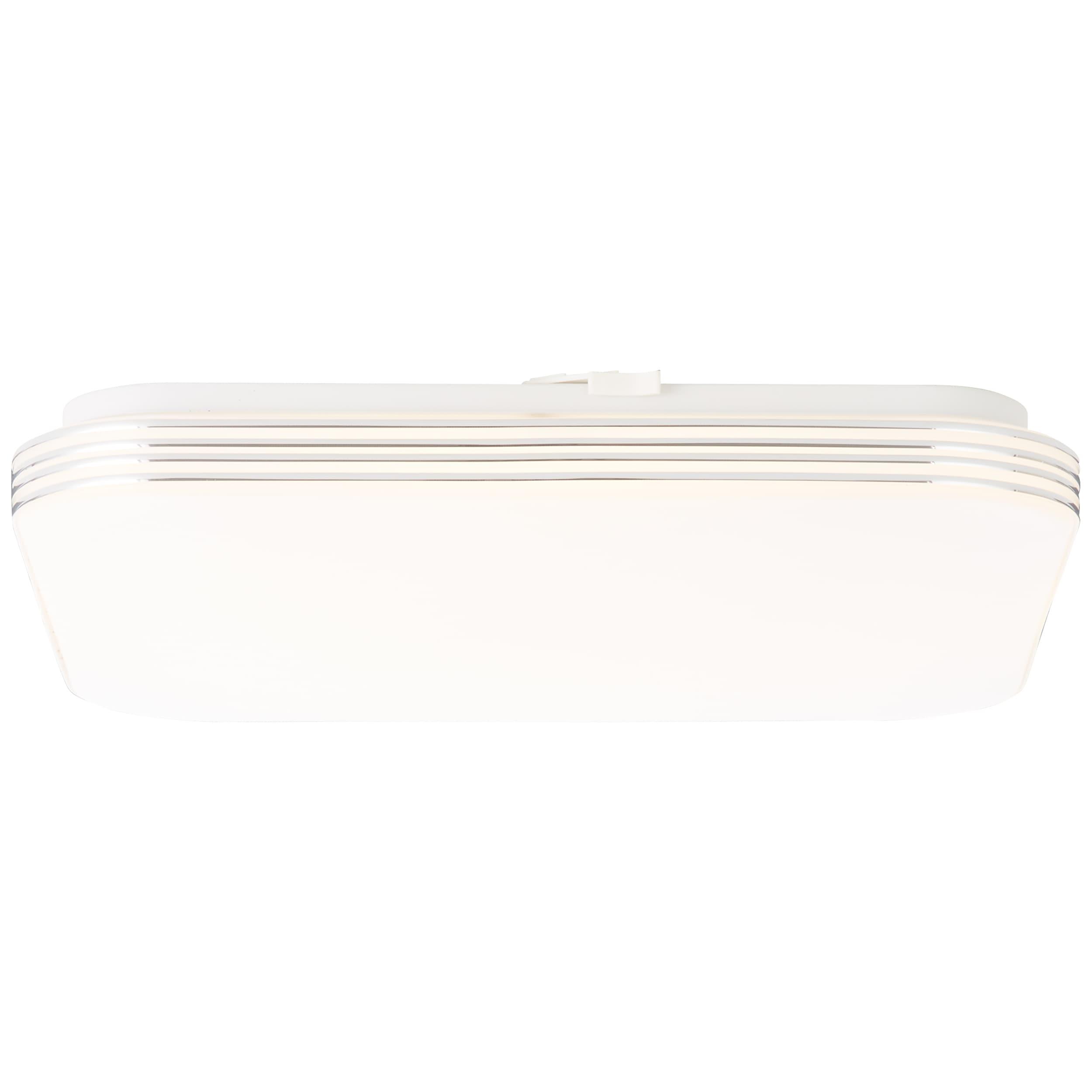 Brilliant Leuchten Ariella LED Wand- und Deckenleuchte 34x34cm weiß/chrom