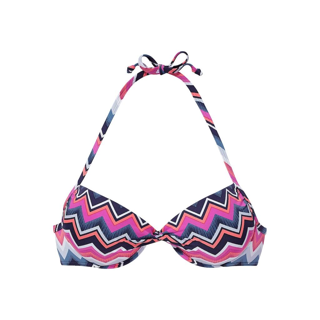 LASCANA Push-Up-Bikini-Top »Pico«, mit modischem Zick-Zack-Muster